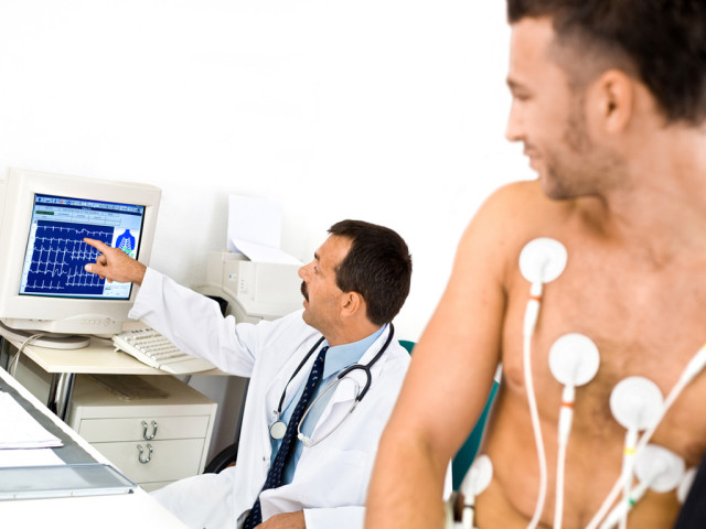 Это исследование дает возможность получить графическую схему, которая отображает частоту и интенсивность сердцебиения