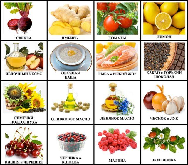 Предпочтение необходимо отдавать фруктам и овощам, способствующим укреплению стенки сосудов, – шиповнику, капусте, укропу, чесноку, арбузам, щавелю