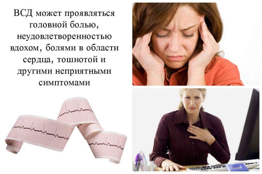 Как проявляется ВСД - разные симптомы