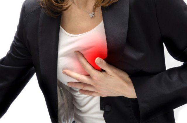 Основной признак, который характеризует недуг — это боль в сердце, очень похожая на боль при ишемической болезни